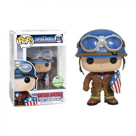 Figura Funko Pop Capitan America Primer Vengador - Exclusiva Spring Convention 2017.