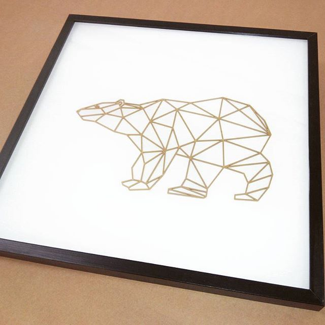 Another piece for the lovely @lauraleadesign. Bear facing West. Machined acrylic finished in gold! Pop by and have a look this weekend  #cncmachined #acrylic #gold #bear #bearfacingwest #limitededition #jensheehan
