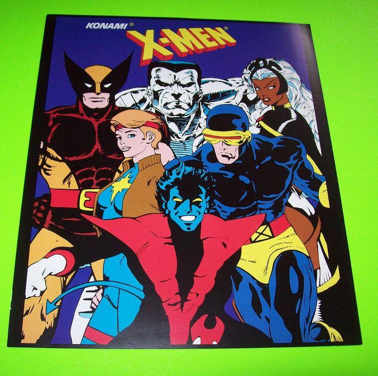 X-MEN By KONAMI 1992 ORIGINAL NOS VIDEO ARCADE GAME PROMO ...