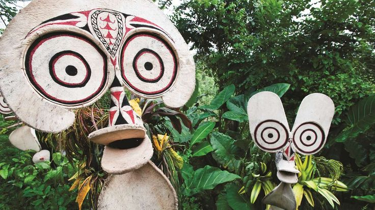 Baining Fire Tribesmen. The National Mask Festival will be held from the 15th - 19th July 2016 in East New Britain.  http://www.pagahillestate.com/new-britain-the-island-with-it-all-2/