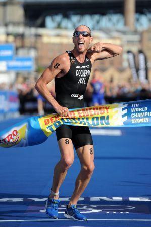 New Zealand triathlete Bevan Docherty in action