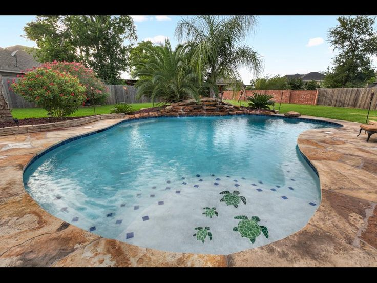 Free Form Pool With Boulder Weeping Wall. Toe Tiles At Steps And Decorative  Tile On Part 92