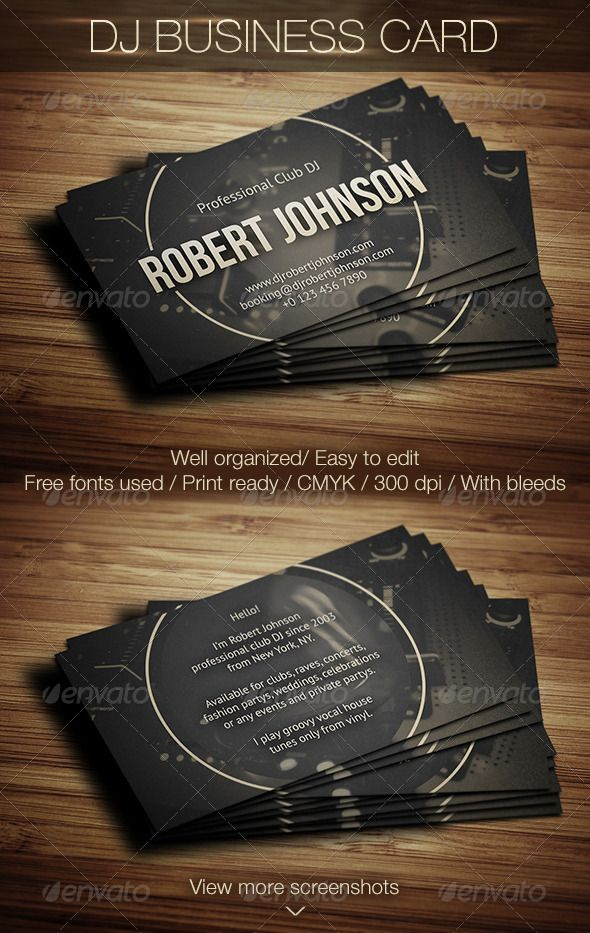 Best DJ Business Cards Images On Pinterest Dj Business Cards - Free dj business card template
