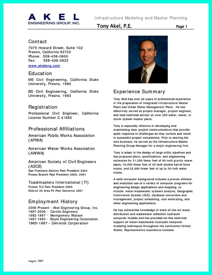 Resume Samples Pdf For Experienced