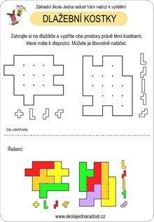 Dlažební kostky - víc listů na http://tridamagdy.blogspot.cz/p/pracovni-listy.html