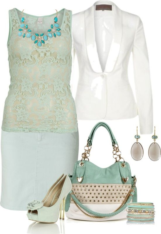 Work OutfitClassy Outfit, Mint Green, Color Palettes, Outfit Ideas, Fashion Ideas, Fashionista Trends, Colors Palettes, Work Outfits, Women Work Outfit