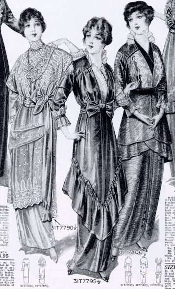 1914 catalog page featuring dresses for sale