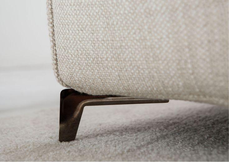 Christian sofa. Feet made of chromium steel. Original design.  #MadebyBerto #madeinitaly