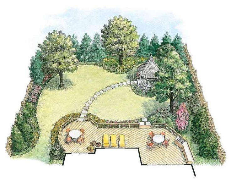 Backyard Landscape Design Plans melinda garden design landscape planslandscape designsbackyard Hwbdo11020 Landscape Plan From Builderhouseplanscom Landscape Planslandscape Designsbackyard
