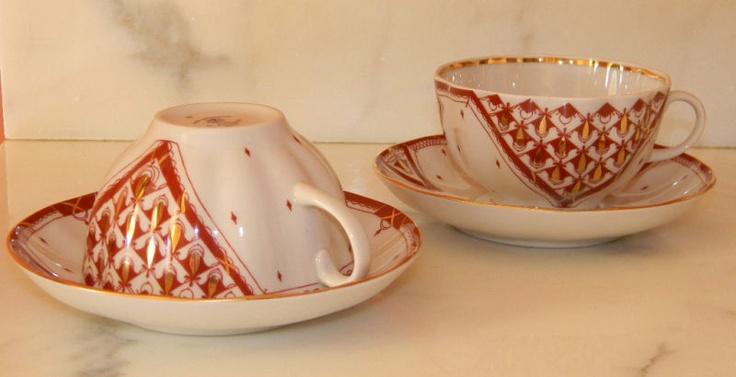Lomonosov Porcelain Russian Tea Cup Saucer Moscow | eBay