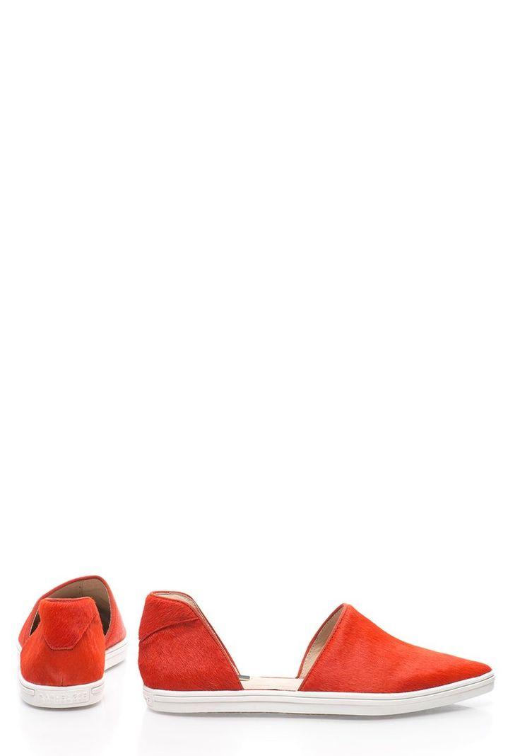 Espadrile corai din piele cu par scurt Camden - Rachel Zoe (V1130-COR)