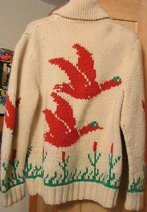Mary Maxim Men's No. 407 Wild Geese sweater jacket