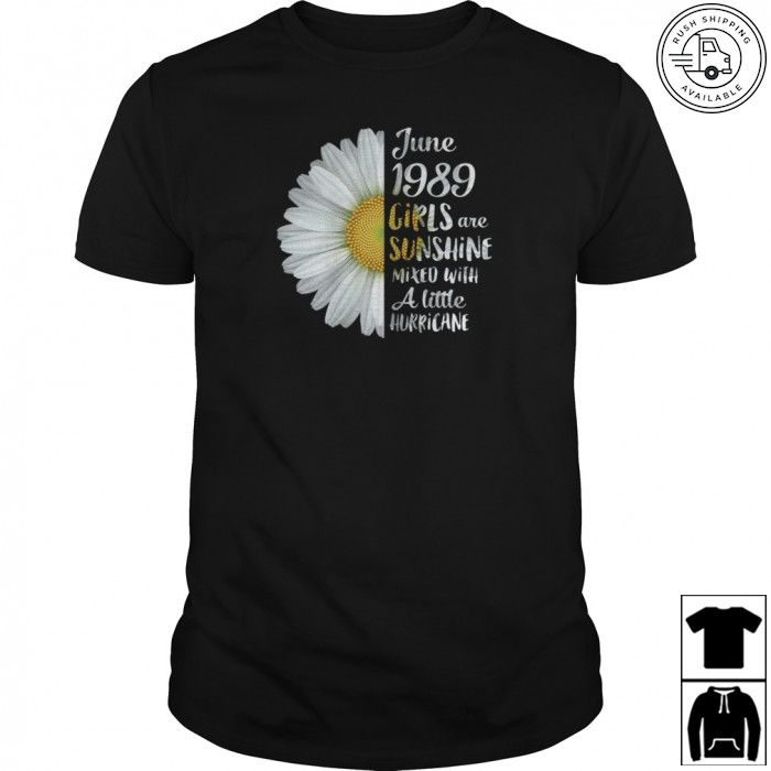 Womens Funny T-Shirt 30 Year Old Present Gift Flowers 1989-30th Birthday