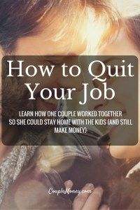 "Ready to quit your job and start your own business? Steve Chou, Founder of My Wife Quit Her Job and co-founder of Bumblebee Linens, shares how you can build a business from home. <div class=""smart-track-player  stp-color-60b86c"" data-url=""""http://traffic.libsyn.com/couplemoney/CM_S3E2_How_to_Quit_Your_Job_and_Still_Make_Money.mp3"""" data-download=""true"" data-color=""60b86c"" data-paid=""true""  data-social=""""true""""  data-social_twitter=""""true""""  data-social_facebook=""""true""""…"