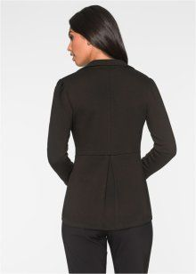 Peplum Detaylı Blazer Ceket, BODYFLIRT, siyah