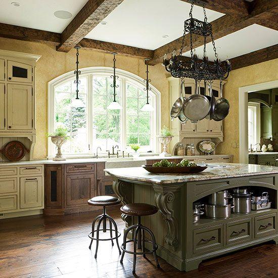 European Kitchen Decor: European Kitchen Cabinets, Farmhouse Kettles And