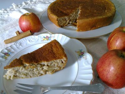 Bolo de maçã light (sem gordura e com frutose)