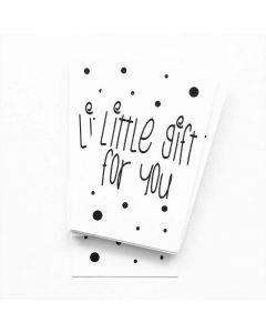 Little gift for you #quefem #quefemwebshop #winkeltjevananne #design #illustratie #babysitter #babysitplanner #planner #stationary #postcard #kaart #kaartjes #handlettering #interior #interiordesign #gift