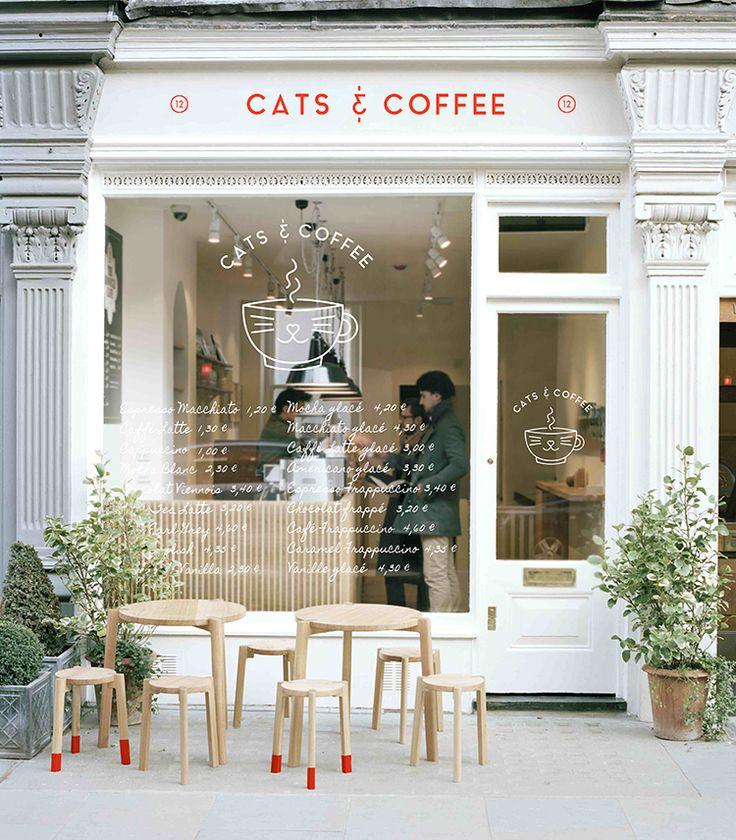 GRAPHISME // Cats & Coffee, le bar à chats | PRINCESSE PASTÈQUE