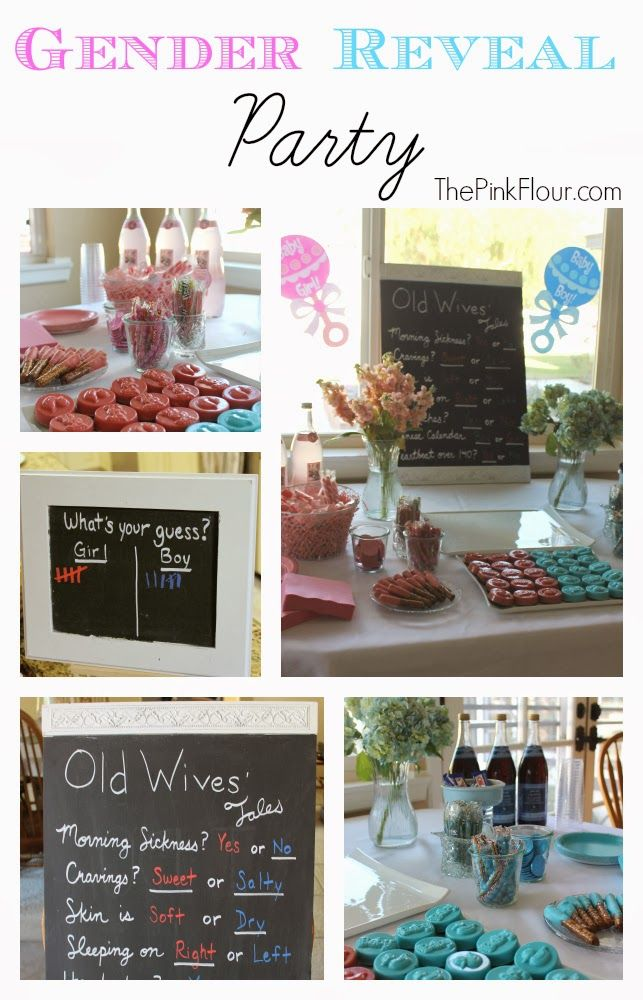 Gender Reveal Party - Boy or Girl? - cute and simple ideas from www.thepinkflour.com