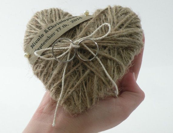 Ring bearer pillow -Wedding Ring Pillow heart  /  Holder -   Special design  , personalized wedding ring pillow, bridal pillow