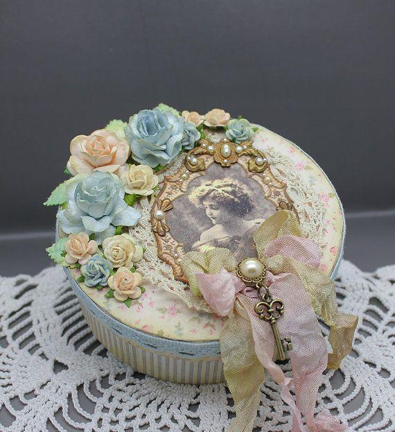 Handmade vintage style gift or keepsake box by AnoniJewellery