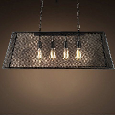 The Lemuel Edison Pool Table Light is made of black finished metal in a fishnet-like shade that perfectly reflects the light from the four Edison Bulbs. You will be pleased with the style this fixture
