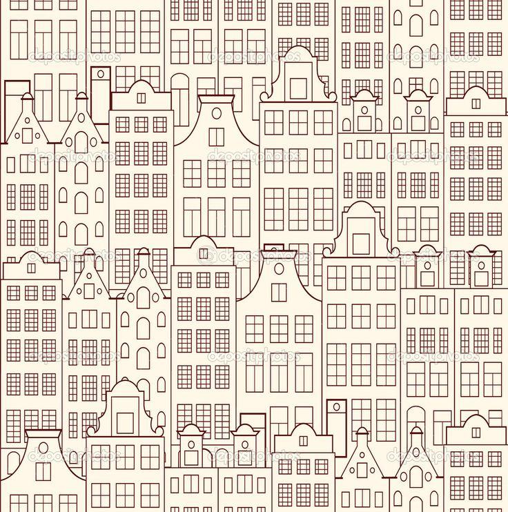 старые здания — Стоковая иллюстрация #22406459