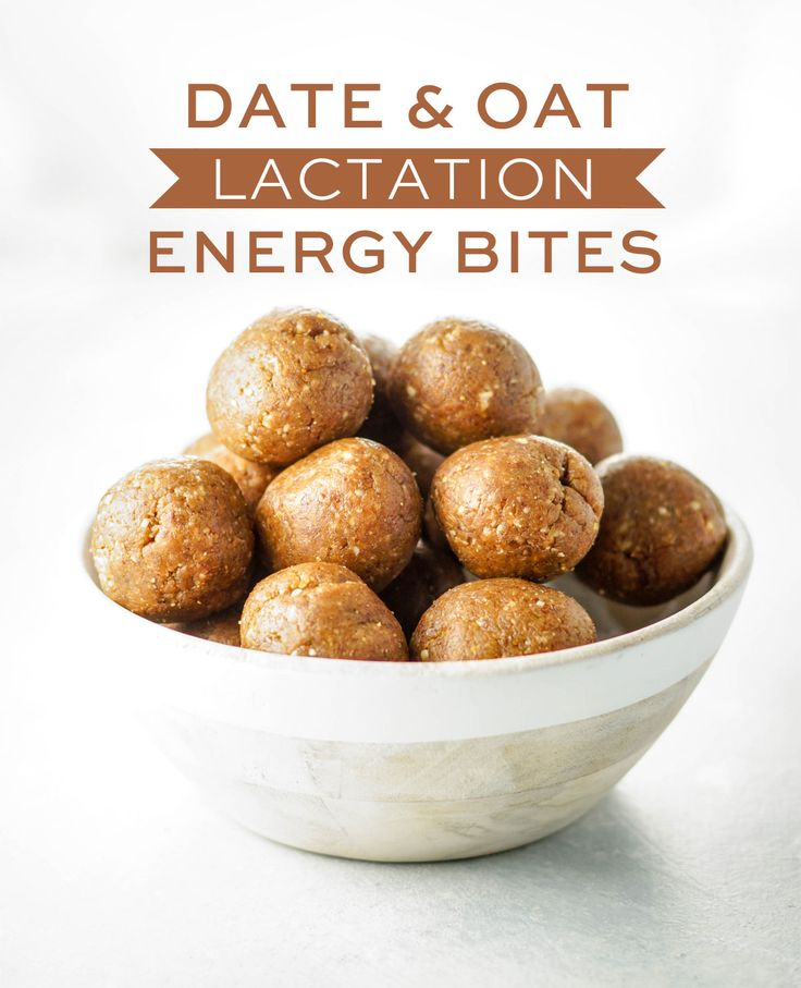 Date & Oat Lactation Energy Bites. These vegan date balls are loaded with healthy ingredients to help boost your milk supply, but they also make a great snack for anyone! (My toddler LOVES them!)
