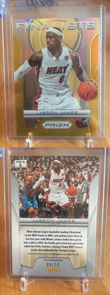 Basketball Cards 214: 2012-13 Panini Prizm Lebron James Heat Finalist Gold Insert #6 10! 1 1! -> BUY IT NOW ONLY: $999.99 on eBay!