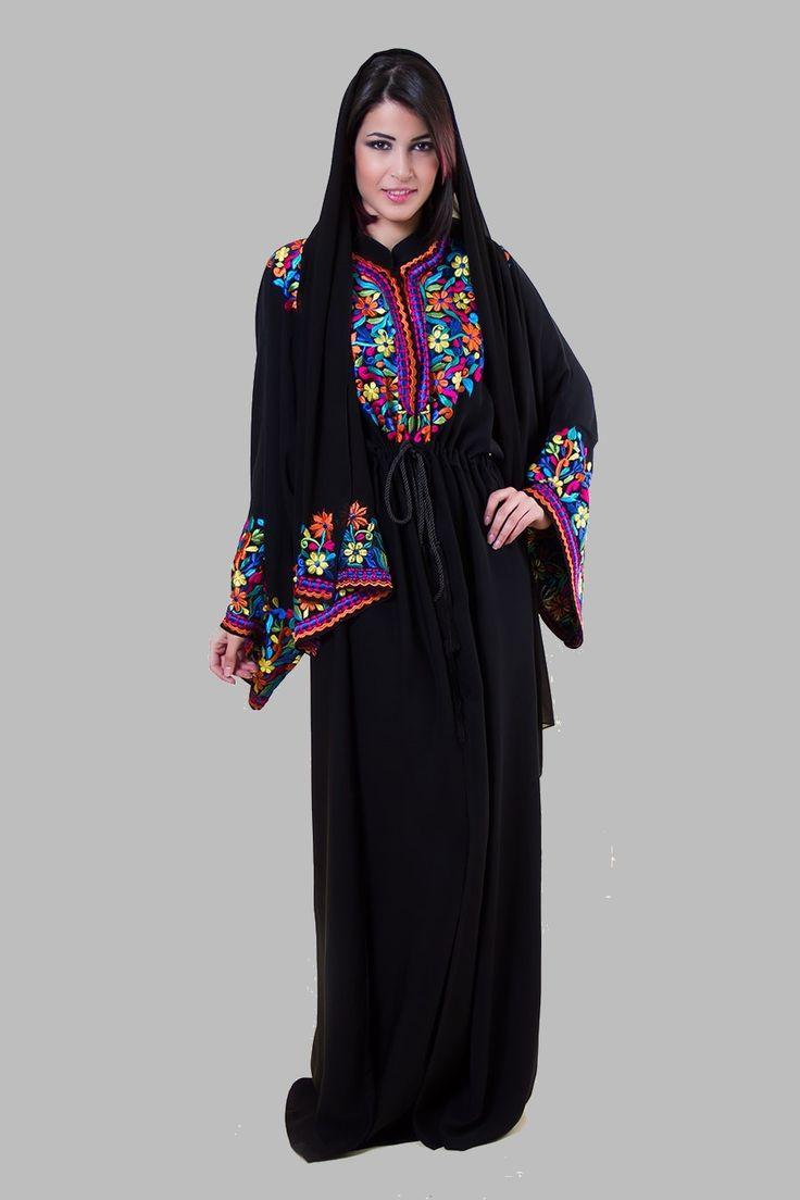Latest Embroidered AbayaKaftan Hijab Designs Islamic Fashion 1 Latest Embroidered Abaya,Kaftan & Hijab Designs Islamic Fashion