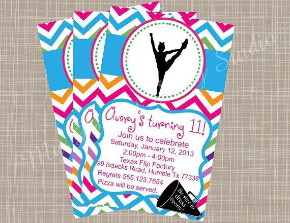 28 best 5th bday cheerleader images – Cheerleading Birthday Party Invitations