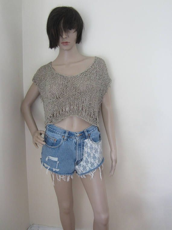 CROPPED TOP Knit cropped top  FESTIVAL cropped top  #freepeople, #bohostyle, #freespirit, #etsyseller, #livefolk, #liveauthentic