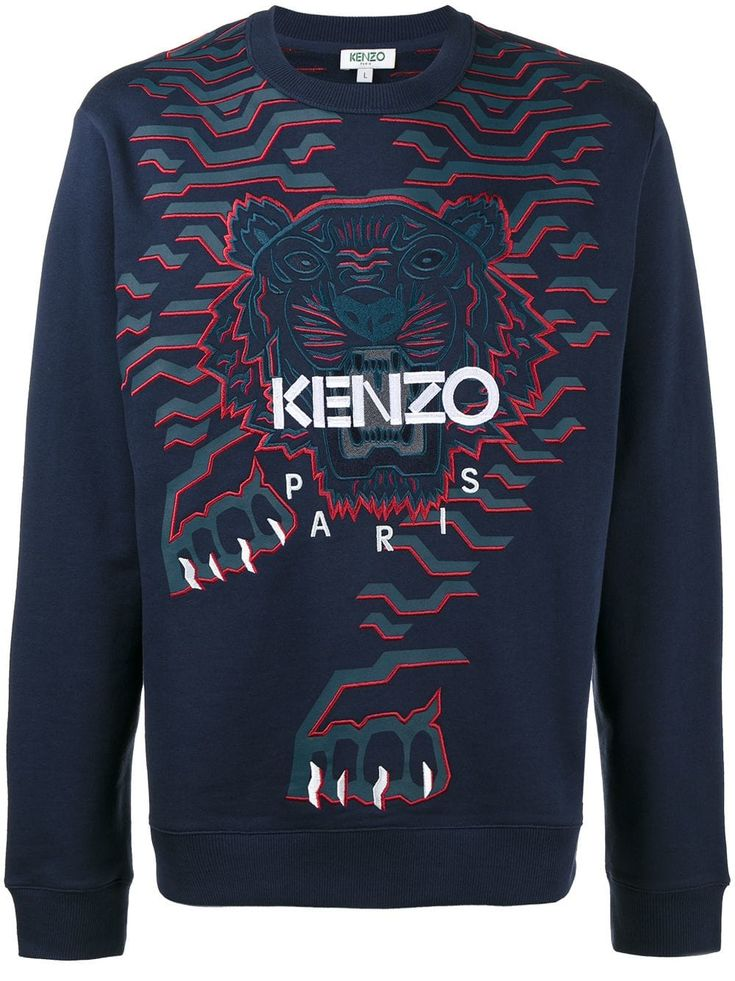 YUNY Mens Juniors Embroidery Pullover Plus Size Top Tee Sweater Blue M
