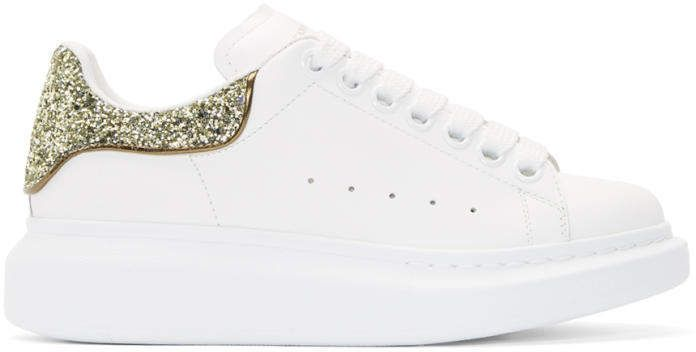 SSENSE Exclusive White and Gold Glitter
