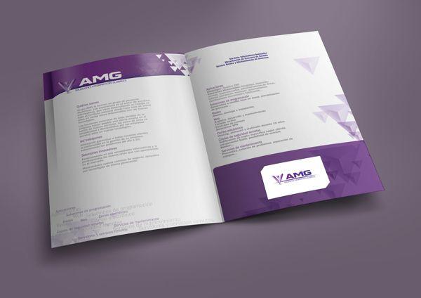 Diseño de carpeta corporativa para AMG