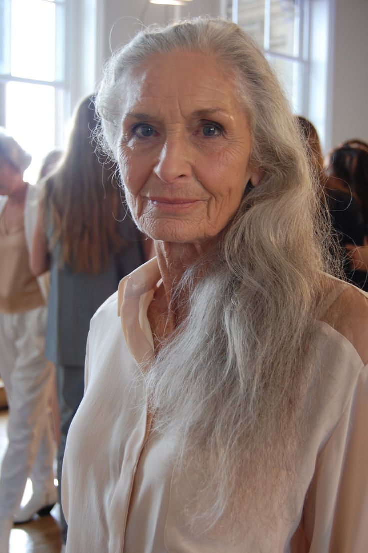 Daphne Selfe.  World's oldest Super Model, age 83.  No surgical enhancements/plastic surgery...yoga and lovely bone structure! Timeless beauty <3