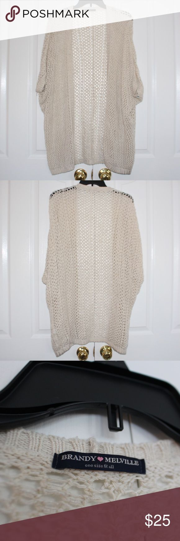 Brandy Melville Cardigan Adorable cream colored brandy melville cardigan. Good condition and perfect for a colder day or to throw on to dress up an outfit! Brandy Melville Sweaters Cardigans
