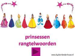 Digibordlessen: Prinsessen rangtelwoorden. http://digibordonderbouw.nl/index.php/themas/prinsessen/prinsessen