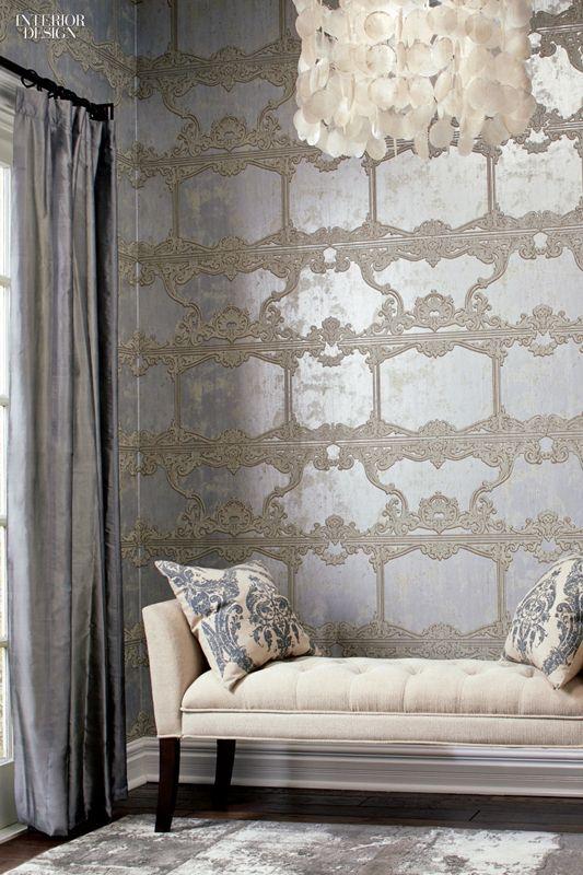Editors Picks 96 Off The Wall Fabrics And Wallcoverings Metallic WallpaperCountry InteriorsInterior Design MagazineRoom