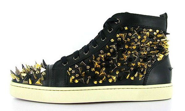 yay Christian Louboutin you made it so that not only womens' shoes have spike but made guys sneakers have them too!!!