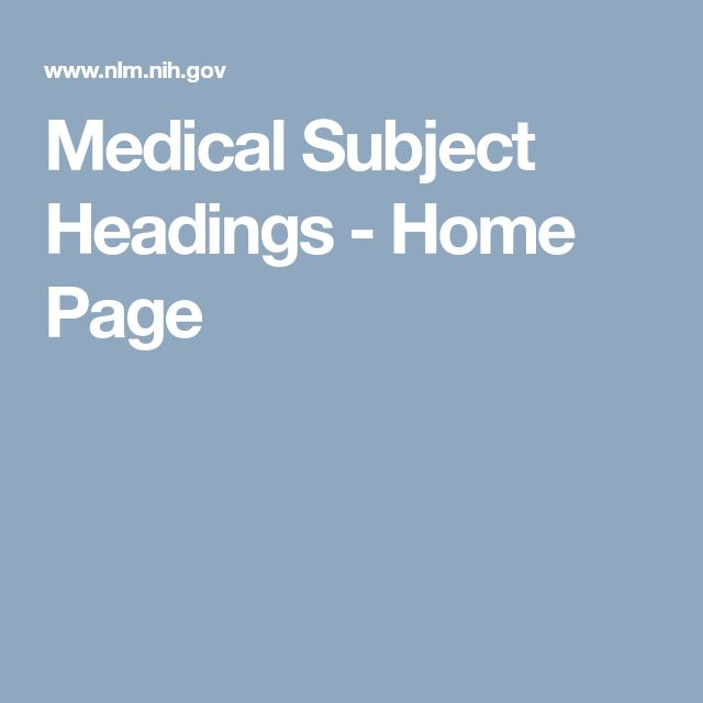 Medical Subject Headings - Home Page