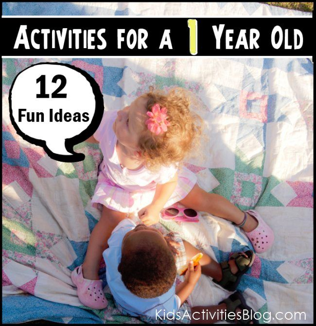12 Different Activities to engage your one year old