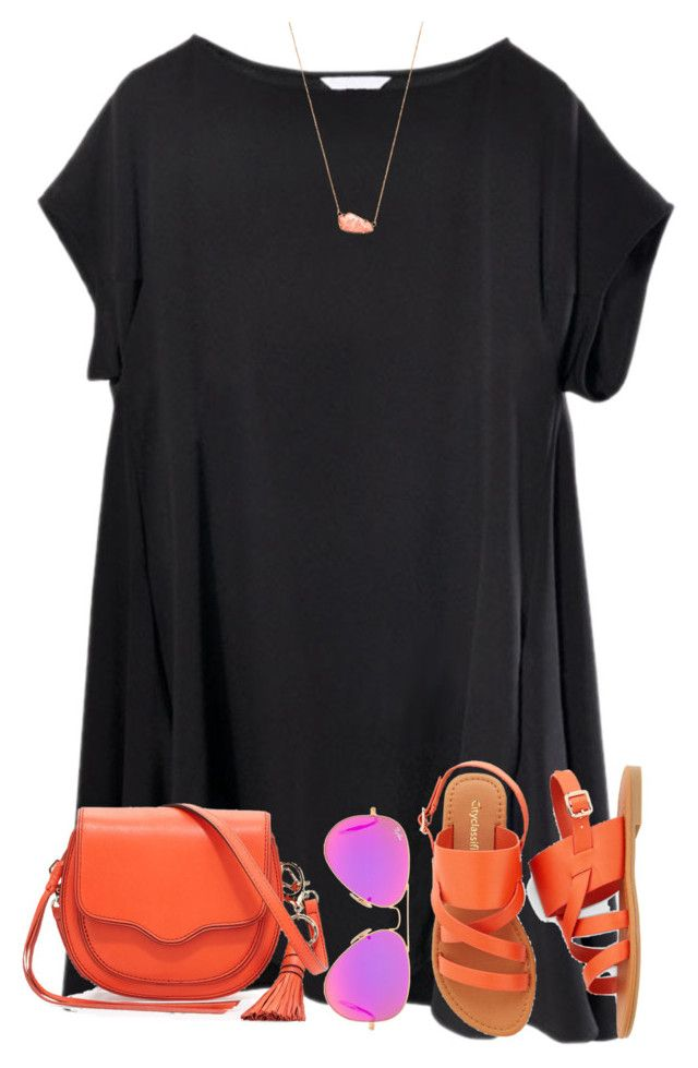 """""""Warm colors"""" by scpprep ❤ liked on Polyvore featuring Rebecca Minkoff, Ray-Ban and Kendra Scott"""