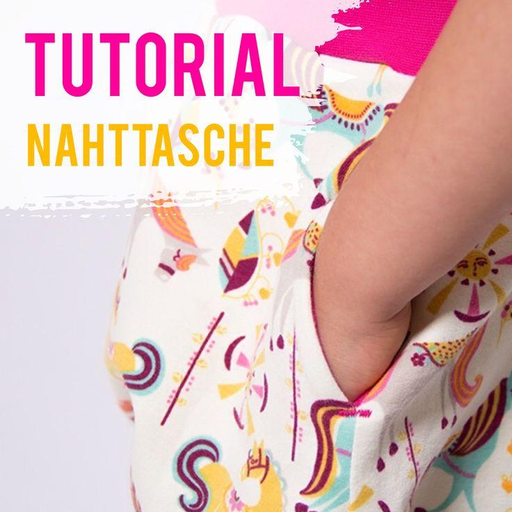 In diesem Tutorial lernst du wie eine seitliche Eingriffstasche bzw. Nahttasche genäht wird. Ganz einfach selber nähen!