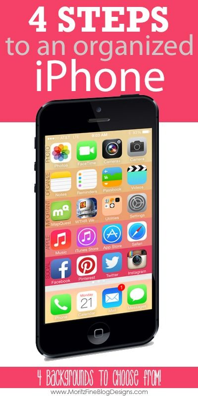 simple. easy. organized iphone in 4 fast steps! you're gonna love this! | www.moritzFineBlogDesigns.com