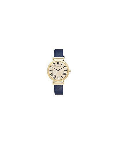 Montre pour femme : Anne Klein Womens AK2136CRNV GoldTone and Navy Blue Leather Strap Watch  Want