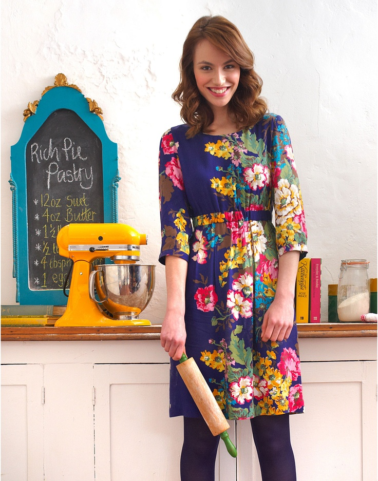 LEILA Womens Printed Floral Dress  joules.com