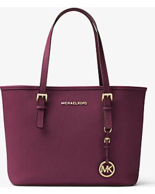 Michael Kors Michael Kors Jet Set Travel Saffiano Leather Small Tote, Women's, Plum(Purple) from Michael Kors - Ecommerce   ShapeShop