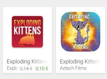 """Exploding Kittens: Kult-App jetzt für kurze Zeit für 10 Cent zu haben https://www.discountfan.de/artikel/tablets_und_handys/exploding-kittens-kult-app-jetzt-fuer-kurze-zeit-fuer-10-cent-zu-haben.php Gerade einmal zwei Jahre ist es alt und schon eine Legende: Das Kult-Spiel """"Exploding Kittens"""" ist jetzt via Google Play zum symbolischen Preis von zehn Cent zu haben. Normalerweise kostet das Game über zwei Euro. Exploding Kittens: Kult-App jetzt für kurze Zeit"""